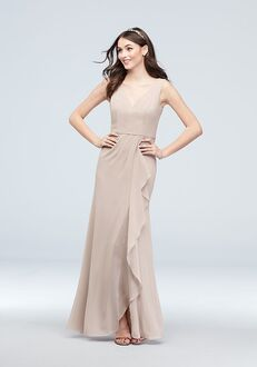 David's Bridal Collection David's Bridal Style F20012 V-Neck Bridesmaid Dress