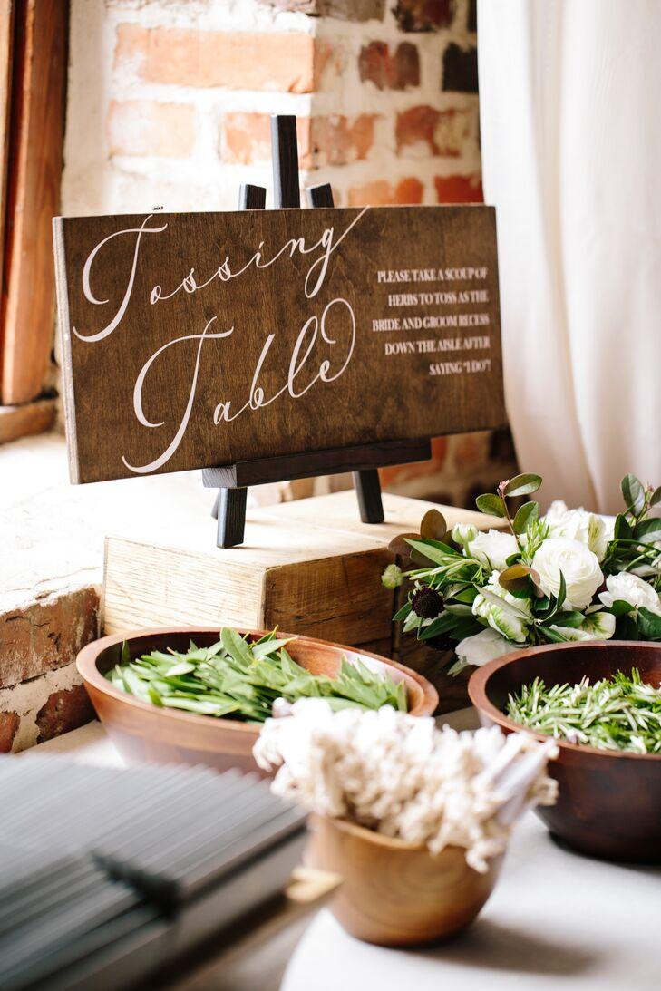 Calligraphy Wood Menu Sign