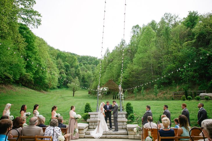 """One of the most meaningful moments of Katharine and Marc's wedding was when they took communion together. """"We broke bread together and shared the cup of juice. It was very intimate and special for both of us,"""" Katharine says."""