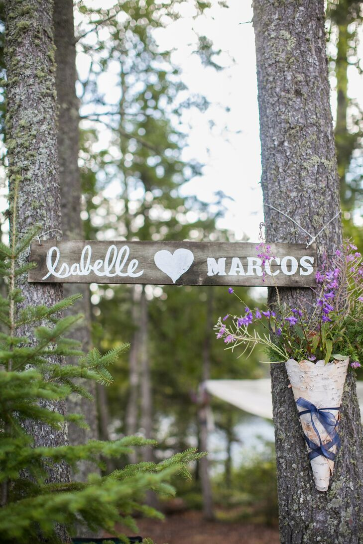 DIY Wooden Ceremony Sign