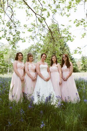 Pink Bill Levkoff Bridesmaid Dresses