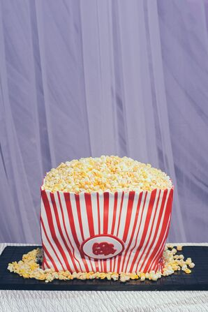 Whimsical Popcorn-Themed Groom's Cake