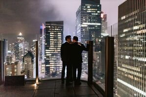 Modern Same-Sex Rooftop Reception in New York City