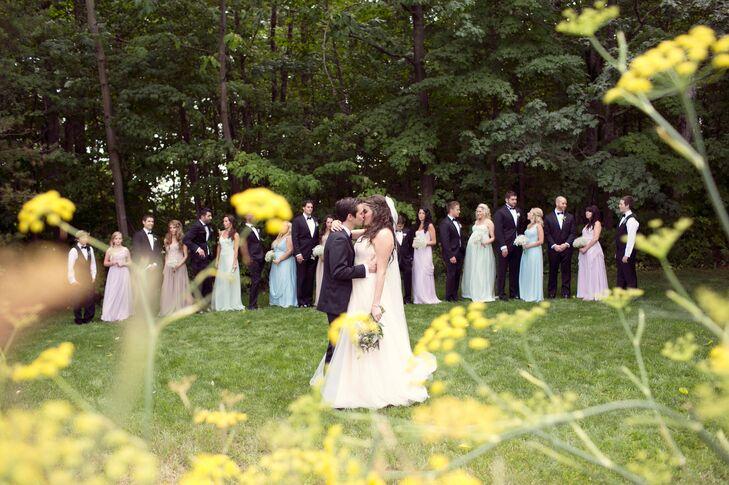The Pastel Wedding Party at Cherry Basket Farm