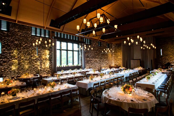 Modern-Rustic Reception at Blue Hill Farm at Stone Barns in Tarrytown, NY