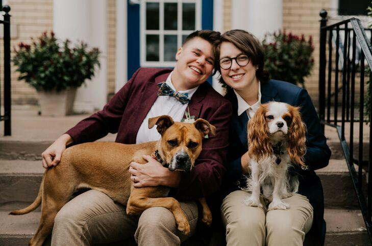 Wedding Portraits with Dog in Detroit, Michigan