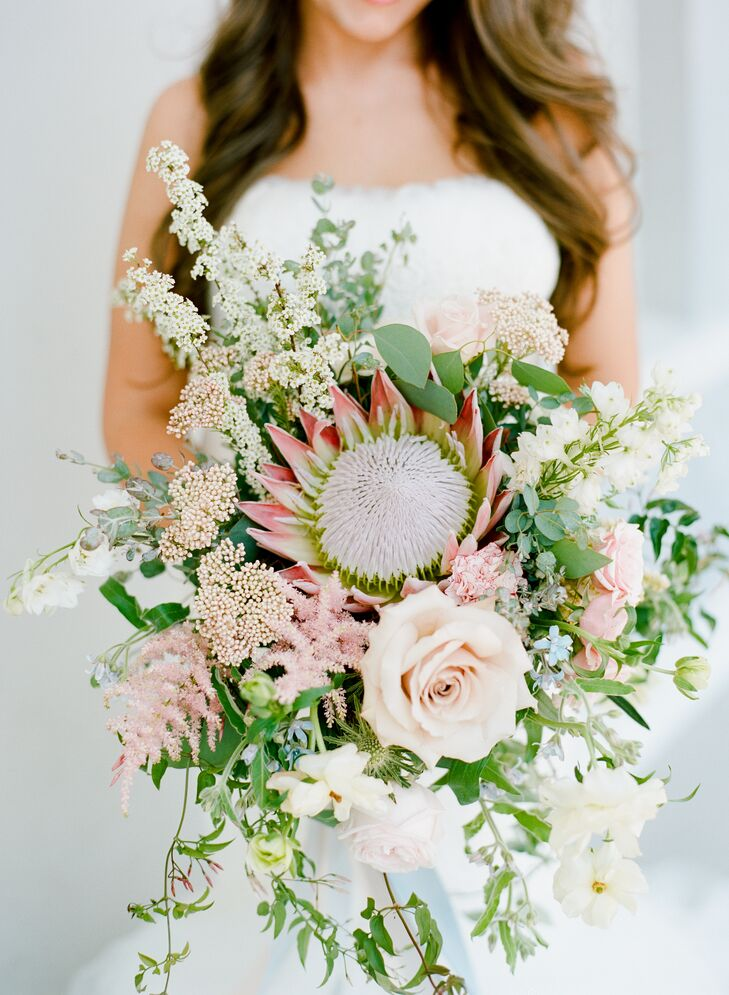 King Protea, Rose and Wildflower Bouquet