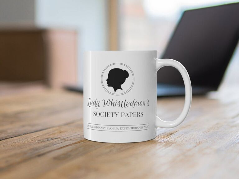 Lady Whistledown's Society Papers coffee mug Valentine's gift idea