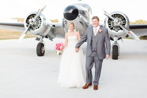 Airport Hangar Wedding Airplane Processional