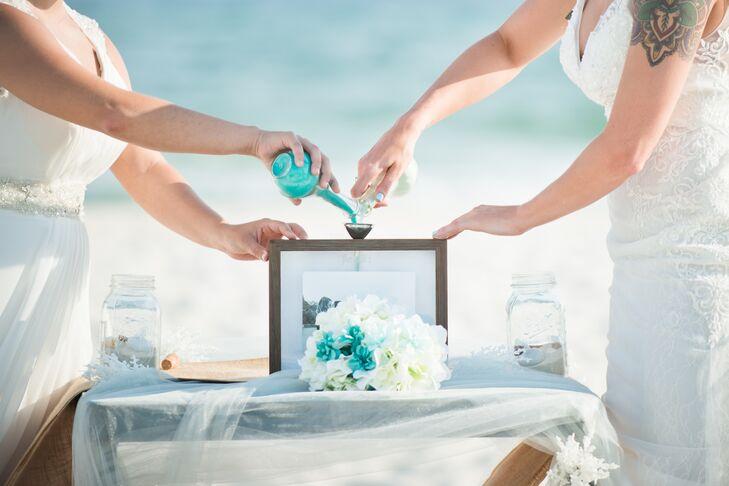 Intimate Beach Wedding Sand Ceremony