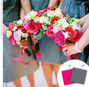 Wedding Color Combo: Berry Pink + Gray