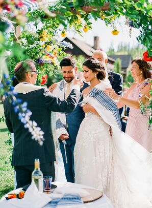Jewish Wedding Ceremony at Devil's Thumb Ranch in Tabernash, Colorado