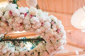 Lush Hydrangea, Peony, Rose Hanging Wreath