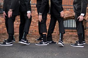 Matching Black Nike Groomsmen Shows