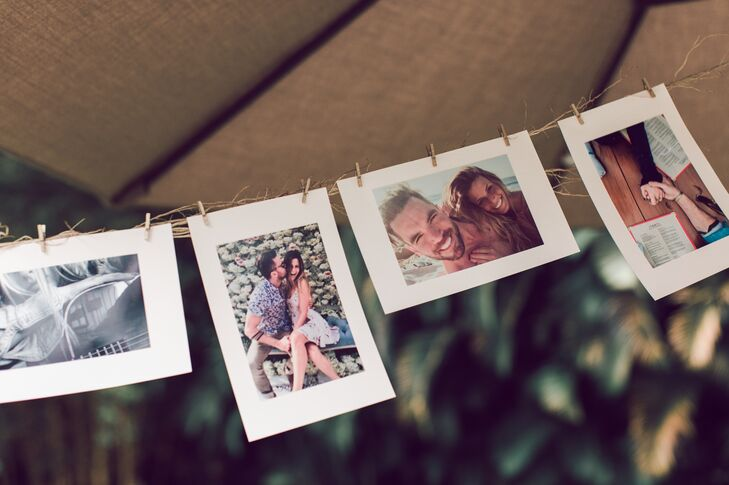 Polaroid Couple Photo Display