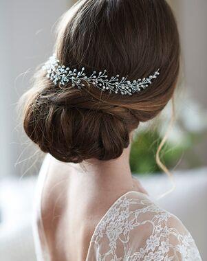 USABride Ella Crystal & Pearl Hair Vine (TI-7114) Silver Headband