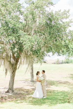Ivory Lace David's Bridal Wedding Dress
