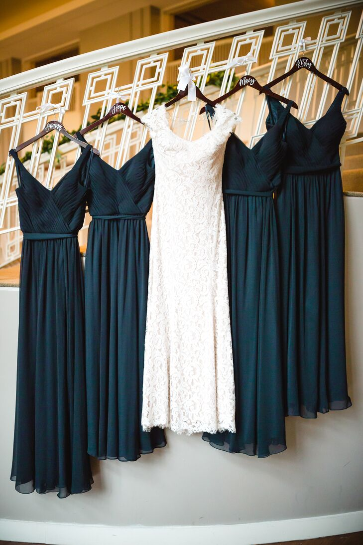 Classic Navy A-Line Bridesmaid Dresses