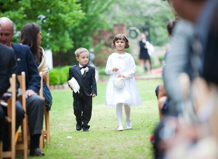 Classic Ring Bearer Tuxedo and White Ring Pillow