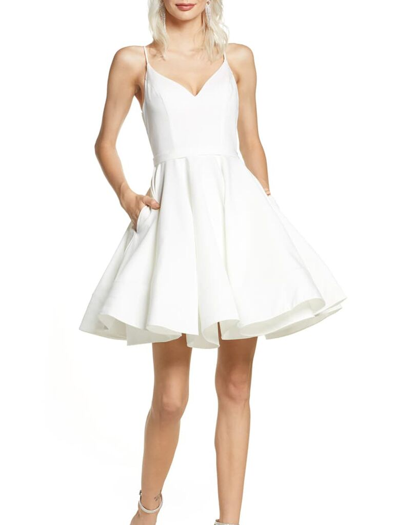 Self-Portrait Shopbop rehearsal dinner outfit white dress