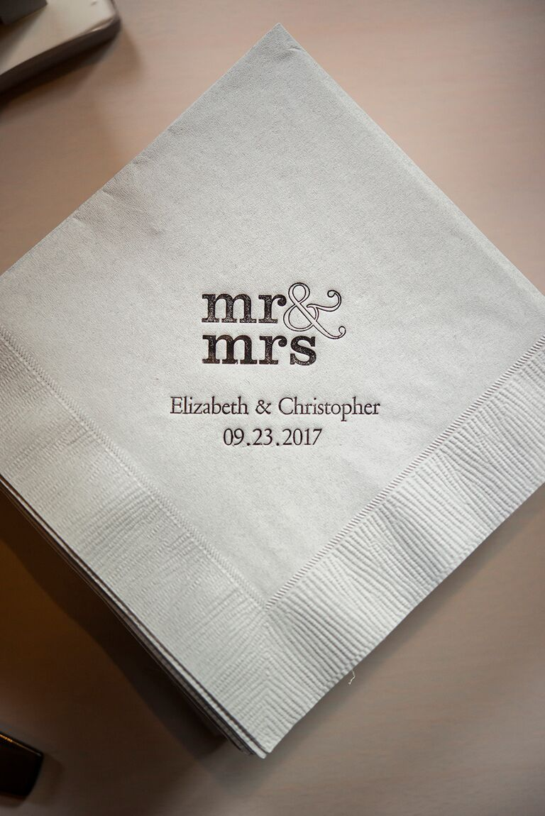 Mr. and Mrs. cocktail napkins