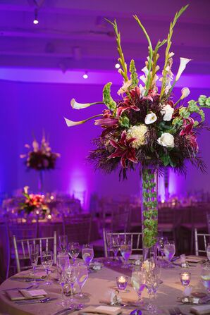 Tall Lily and Bells of Ireland Centerpieces