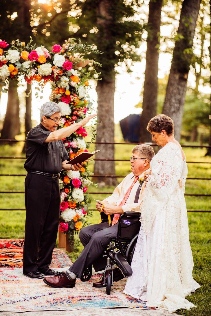 Bohemian Backyard Vow Renewal Ceremony