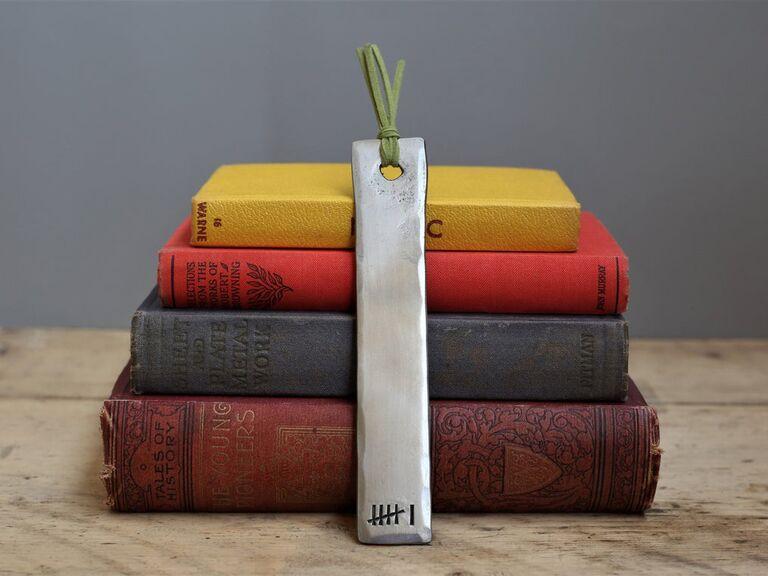 Iron sixth anniversary bookmark gift