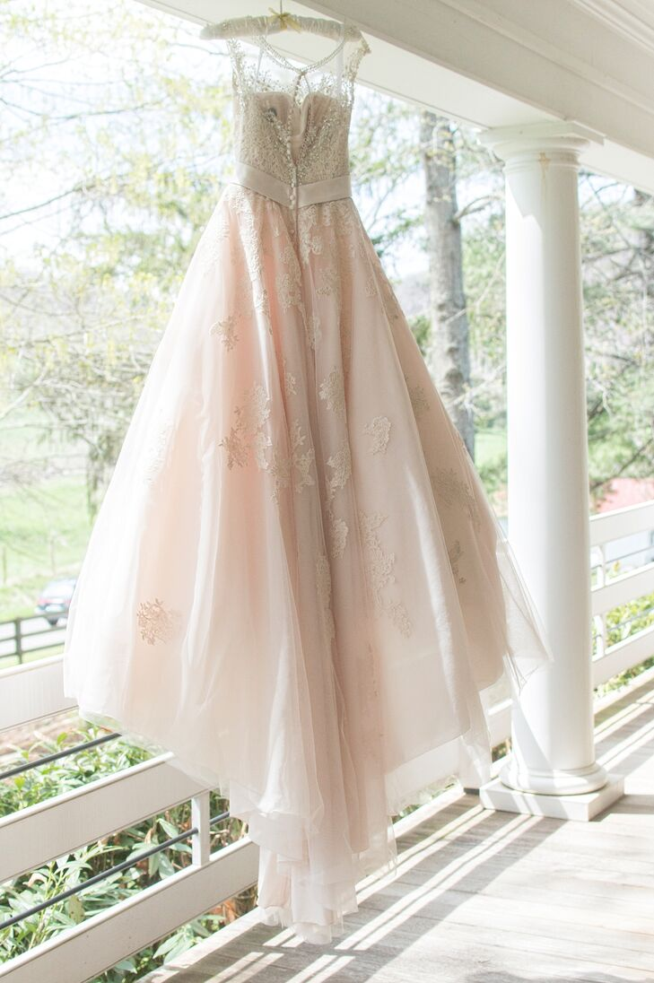 Embroidered Champagne Wedding Dress From Amanda's Touch