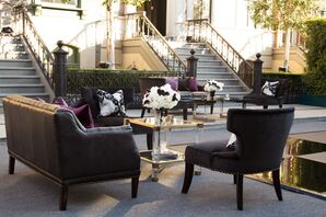 Elegant, Purple and Black Lounge Vignettes