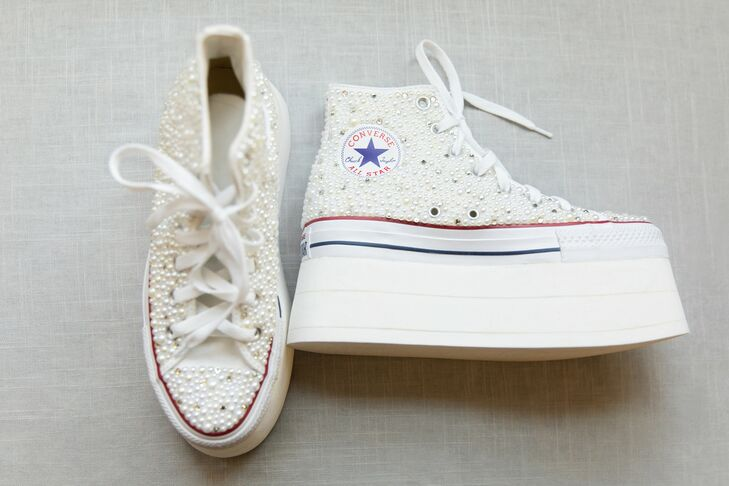 Bespoke Bridal Chuck Taylors at The Joule in Dallas, Texas