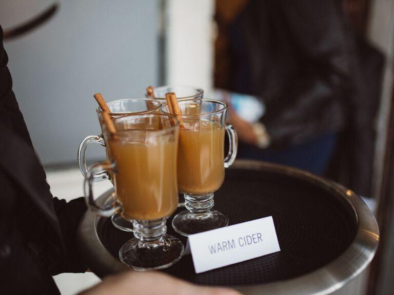 wedding drink ideas hot spiked cider