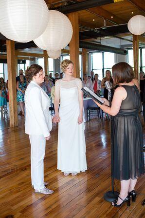 Modern Indoor Ceremony at La Piece - The Room