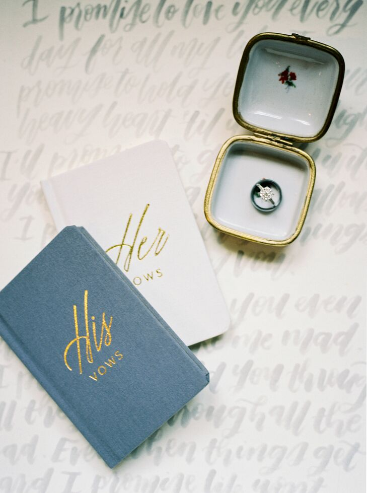 His and Her Hardcover Vow Books