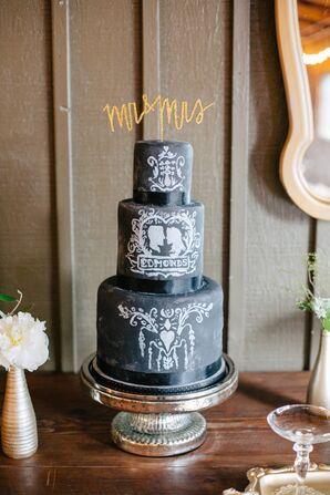 Chalkboard-Designed Groom's Cake