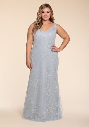 Hayley Paige Occasions W761 V-Neck Bridesmaid Dress