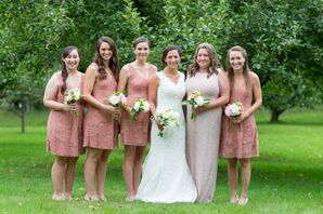Lace Dusty Rose Bridesmaid Dresses