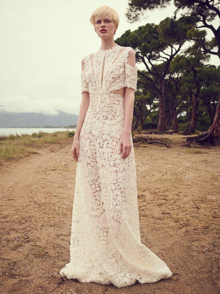 Costarellos beach wedding dress