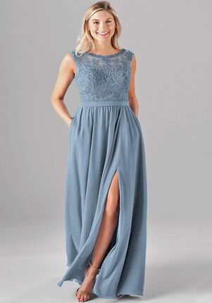 Kennedy Blue Jade Bateau Bridesmaid Dress