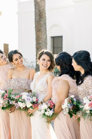 Bridal Party at Wente Winery Wedding