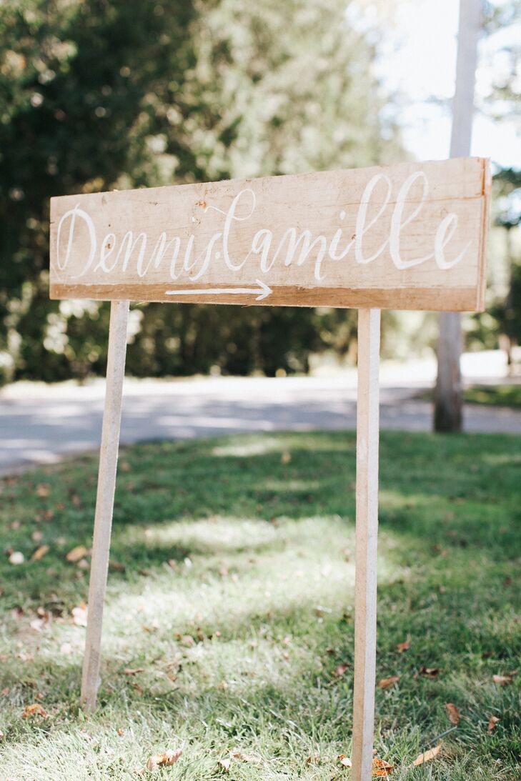 Couple's Name on Wooden Sign