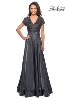 La Femme Evening 26447 Gray Mother Of The Bride Dress