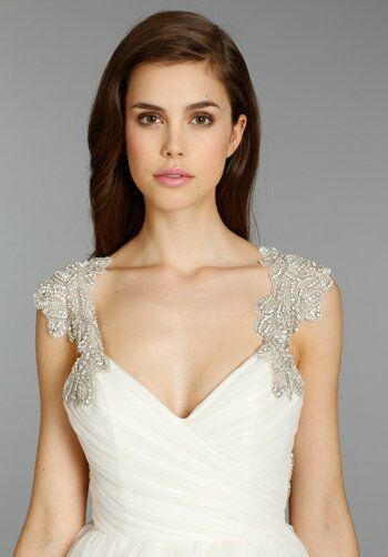 Hayley Paige 6350 Carrie A Line Wedding Dress