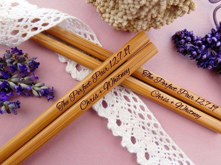 chopstick wedding favors