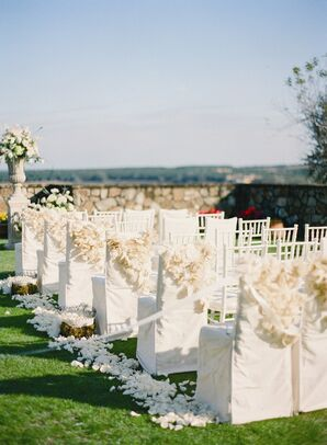 Fabric-Covered Ceremony Chairs