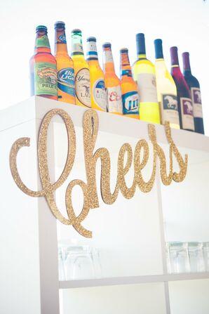 Whimsical Gold Bar Sign