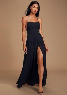 Lulus Dreamy Romance Black Backless Maxi Dress Square Bridesmaid Dress