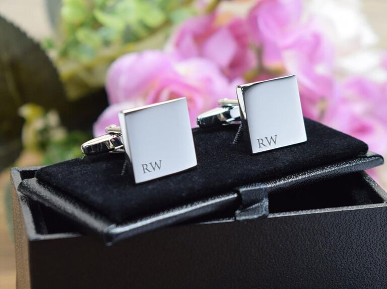 Cufflinks Galore silver personalised square cufflinks