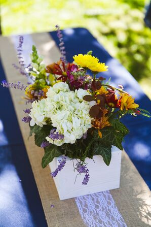 DIY White Stained Wooden Centerpieces