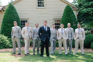 Light-Colored Groomsmen Suits